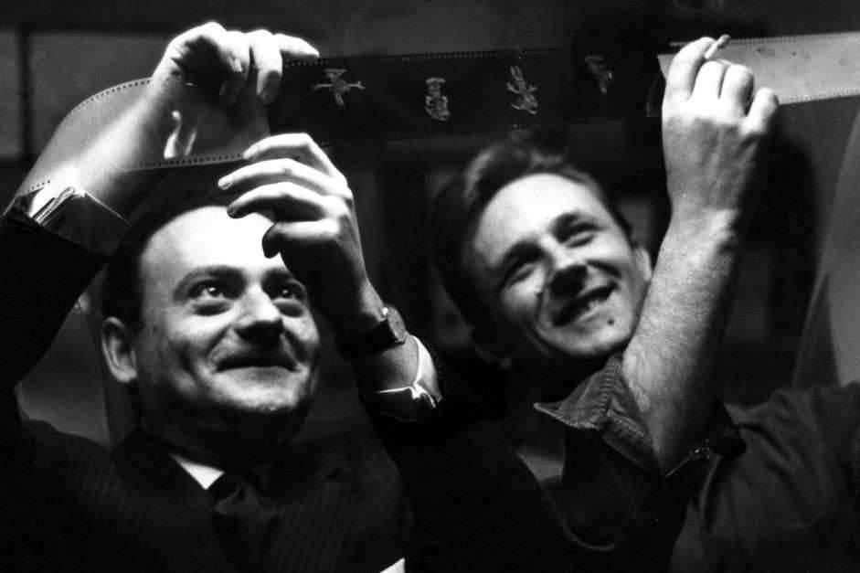 René Goscinny et Albert Uderzo, les créateurs d'Astérix (Fonds d'archives Institut René Goscinny).