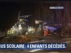 Accident entre un bus scolaire et un train fait 4 morts et de nombreux blessés près de Perpignan (capture France Bleu)