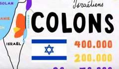 Colonies israéliennes en Palestine (capture Franceinfo)