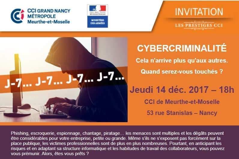conférence sur la cybercriminalité, CCI 54, le 14 décembre 2017