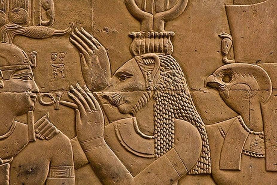 Sekhmet - Temple de Sobek et Haroëris à Kom Ombo. Thomas Leplus/Flickr, CC BY-SA