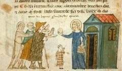 L'aumône aux pauvres, vers 1330-1340. BNF