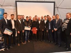 Les lauréats entourés des élus du conseil régional Grand Est (photo © Jean-Luc Stadler/Région Grand Est )