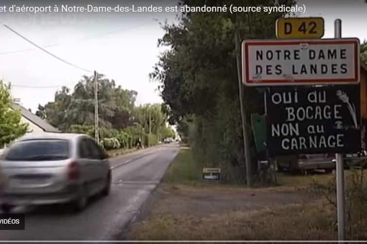 Le projet d'aéroport à NDDL est abandonné (Photo capture Euronews)