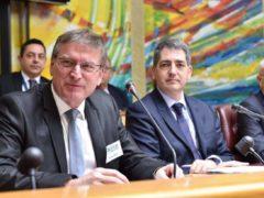 Patrick Tassin élu président du CESER Grand Est, ici aux côtés de Jean Rottner (Photo Stadler, Région Grand Est).