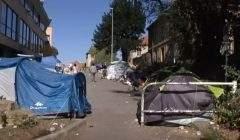 Le camp de Blida, à Metz, plusieurs fois démantelé (capture BFMTV)