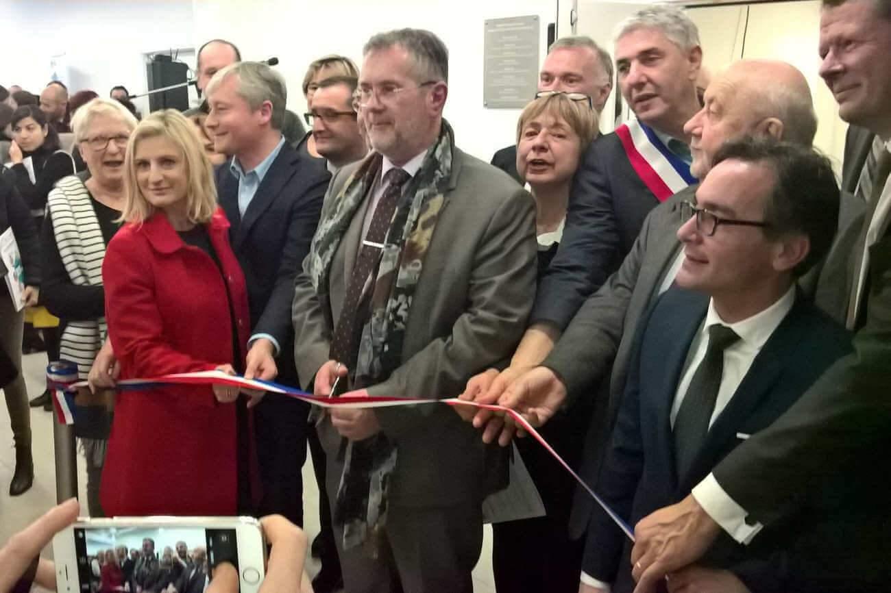 Inauguration de l'hôpital virtuel de Lorraine, le 23 janvier 2018 (DR)
