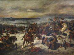 La Bataille de Nancy par Delacroix, 1831. BnF