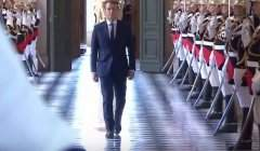 Emmanuel Macron à Versailles, le 3 juillet 2017, lorsqu'il a convoqué en Congrès le Parlement (capture LCP)
