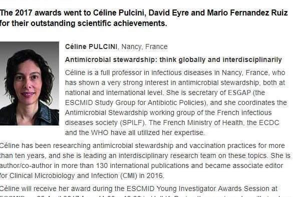 Le Pr Céline Pulcini est infectiologue au CHRU de Nancy