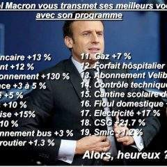 Avec les bons vœux d'Emmanuel Macron