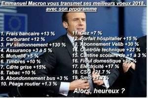 Avec les vœux de Macron