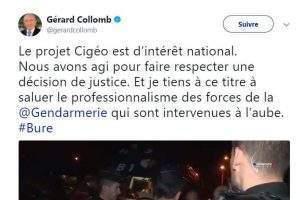 Communiqué de Gérard Collomb à propos de Bure