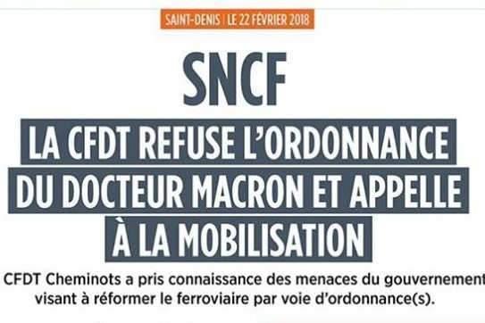 SNCF : réforme sur ordonnances !
