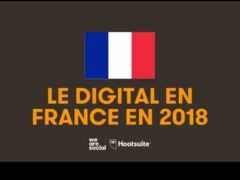Le digital en France 'We Are Social et Hootsuite)