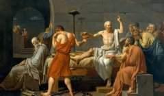 Jacques-Louis David, « La Mort de Socrate » (1787), conservé au Metropolitan Museum of Art de New York.. Wikipedia