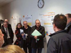 Laurent Berger, secrétaire général de la CFDT est venu rencontrer les chercheurs de l'INRS