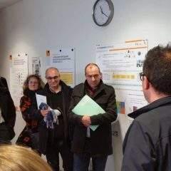 Laurent Berger, est venu soutenir les chercheurs de l'INRS à Vandoeuvre