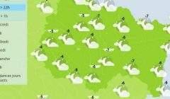 Météo-France annonce de la neige pour mercredi (Capture météo France)