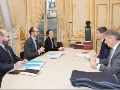 Rencontre entre Jean Rottner, président du Grand Est et le Premier ministre (photo Matignon)