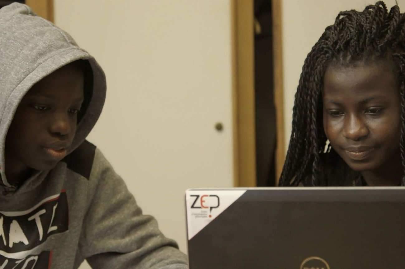 Djibi et Ange, les deux jeunes filmés par les frères Zambeaux.