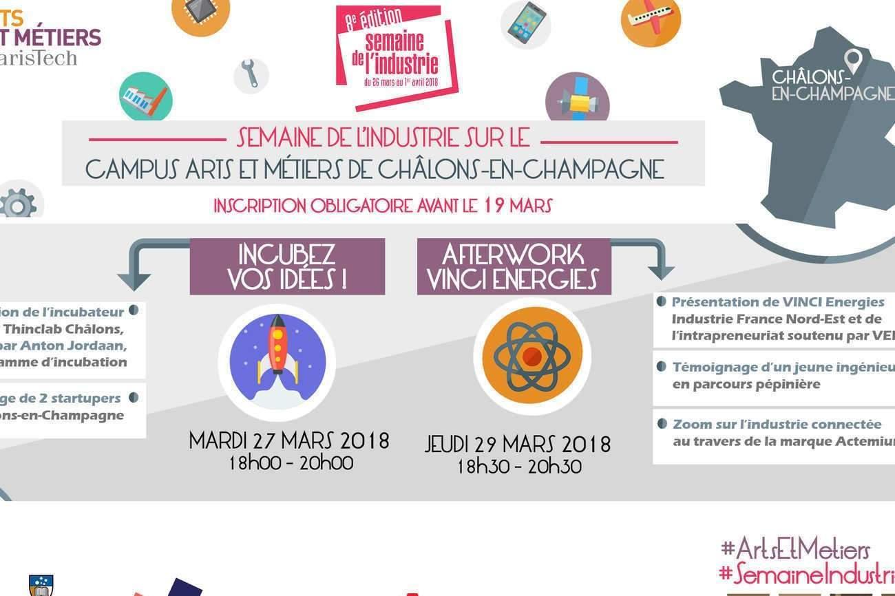 Arts et Métiers de Châlons-en-Champagne connecté à l'Industrie !