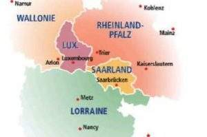 Carte de la Grande Région (capture IGR)