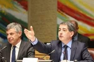 Région Grand Est : le président Jean Rottner et le vice-président Jean-Luc Bohl (photo RGE)