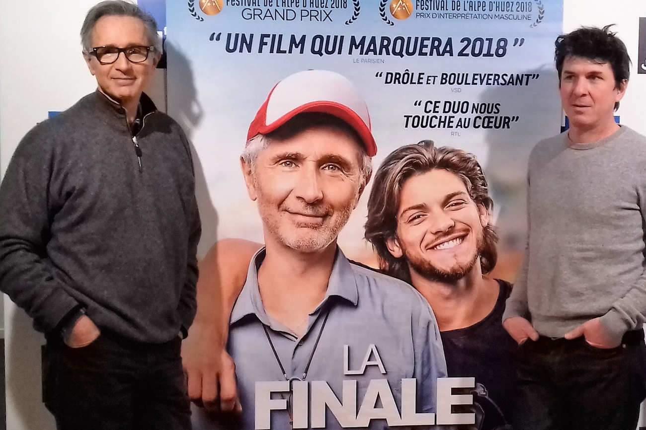 """Thierry Lhermitte et le réalisateur Robin Sykes. """"C'est un rôle formidable"""", assure l'acteur, qui a reçu un Prix d'interprétation au Festival de l'Alpe d'Huez."""