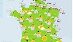 Neige et verglas dans le Nord et l'Est (capture Météo France)