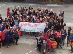 Non au harcèlement. Ecole de Villefort (photo académie de Montpellier)