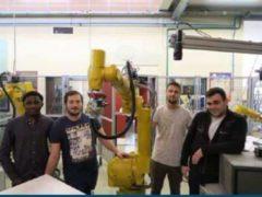Les quatre élèves-ingénieurs sélectionnés (Ph. Polytec)