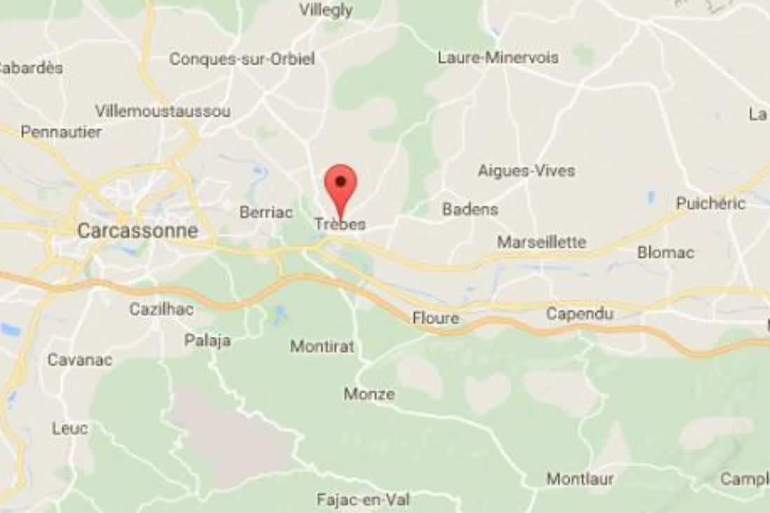 Attaque à Trèbes, dans l'Aude (Google)