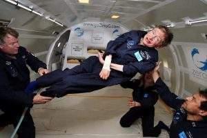 Stephen Hawking en apesanteur. Nasa/Wikimedia