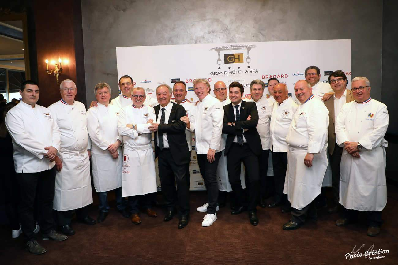 De nombreux chefs, MOF et maîtres cuisiniers réunis au Grand Hôtel de Gérardmer (photo Création Gérardmer)