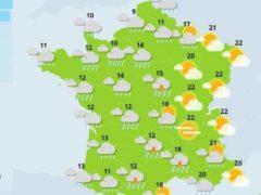 Vigilance aux orages dans l'Est (carte météo France)
