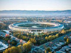 Le nouveau campus d'Apple, à Cupertino, Californie. Shutterstock