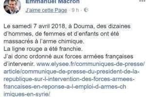 Message du président Macron sur Facebook