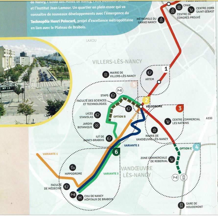 Plusieurs options proposées pour le futur tram de Nancy