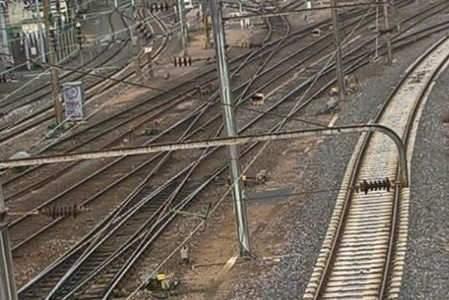Peu ou pas de trafic sur les rails (DR)