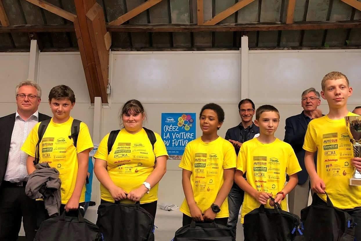 2ème prix : Equipe FAST-BEE Collège Bichat (Lunéville)