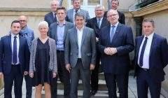 Le président de la Région et les 10 présidents des départements réunis à Metz (Photo Bodez Région Grand Est)