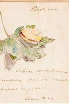 Un dessin d'aquarelle de Manet (Collections Aristophil)