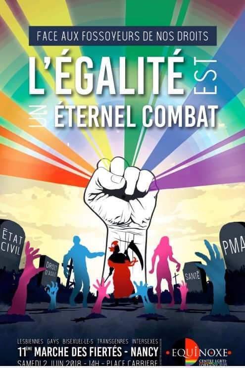 La 11ème marche des Fiertés à Nancy, ce samedi 2 juin 2018 (affiche)