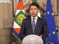 L'avocat Giuseppe Conte, nommé à la présidence du conseil italien le 24 mai, (capture Euronews)