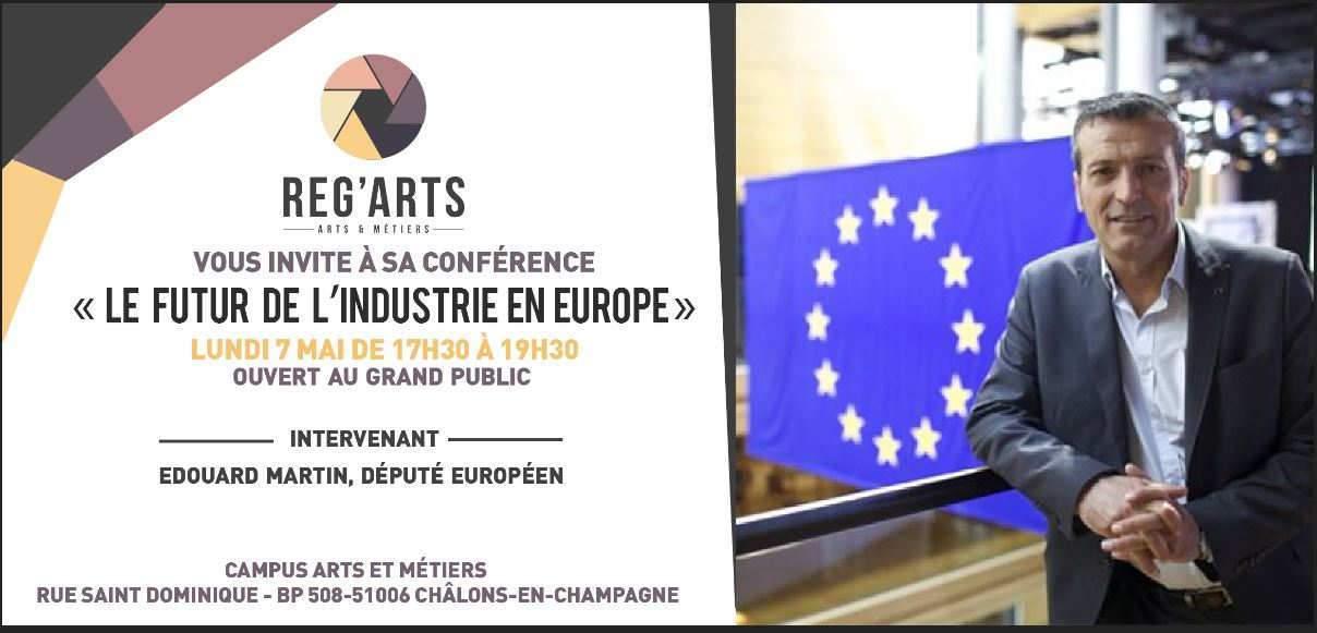 Invitation à la conférence des étudiants de Reg'Arts à Châlons-en-Champagne