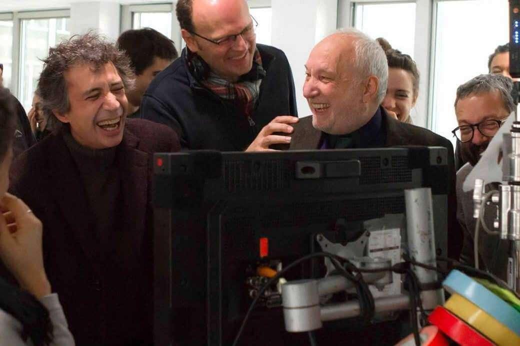 """Le réalisateur Jean-Pierre Améris entre Eric Elmosnino et François Berléand. """"Le film provoque quelque chose de l'ordre du bienfait"""", constate le cinéaste."""