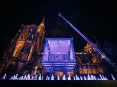 Mammouth volant place du château à Strasbourg (©Vincent Muller Photographies)