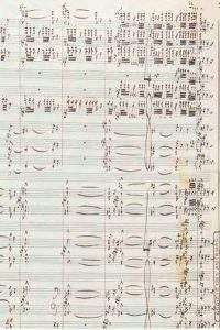 Le manuscrit musical autographe Métaboles (1964) signé par Henri DITULLEUX (1916-2013)