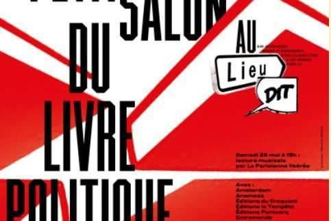 Petit salon du livre politique à Paris (affiche)